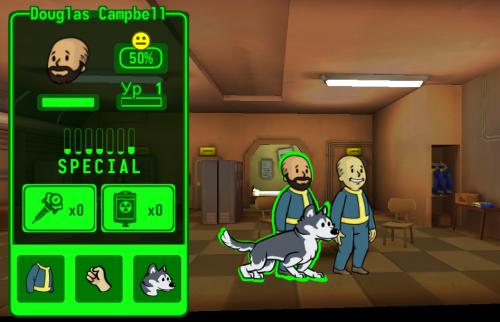 Виды питомцев в Fallout Shelter